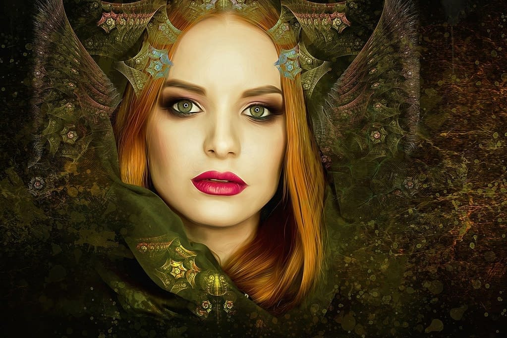 Main characters in Dragon Witch trilogy - Caia Esvane